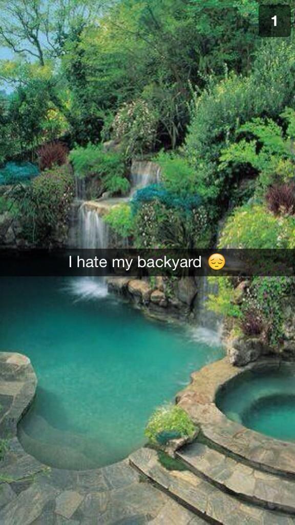 I hate my backyard