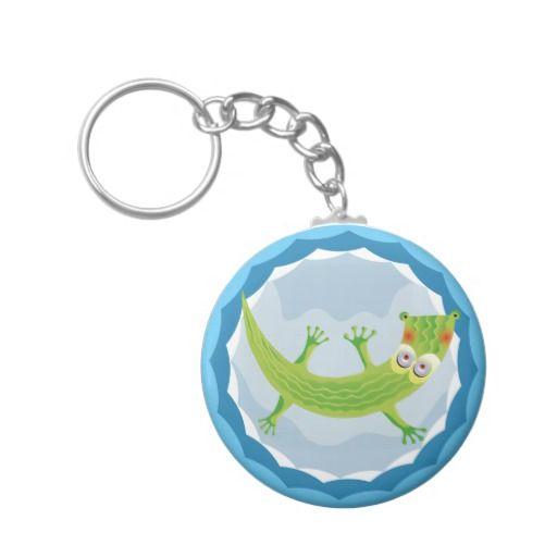 Tierno cocodrilo. Crocodile. Producto disponible en tienda Zazzle. Product available in Zazzle store. Regalos, Gifts. Link to product: http://www.zazzle.com/tierno_cocodrilo_basic_round_button_keychain-146673964585347001?CMPN=shareicon&lang=en&social=true&rf=238167879144476949 #llavero #KeyChain #cocodrilo #crocodile