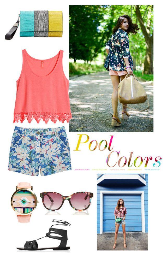 Summer days summer colours.  Featuring H&M, Kerr®, Topshop, Wet Seal.