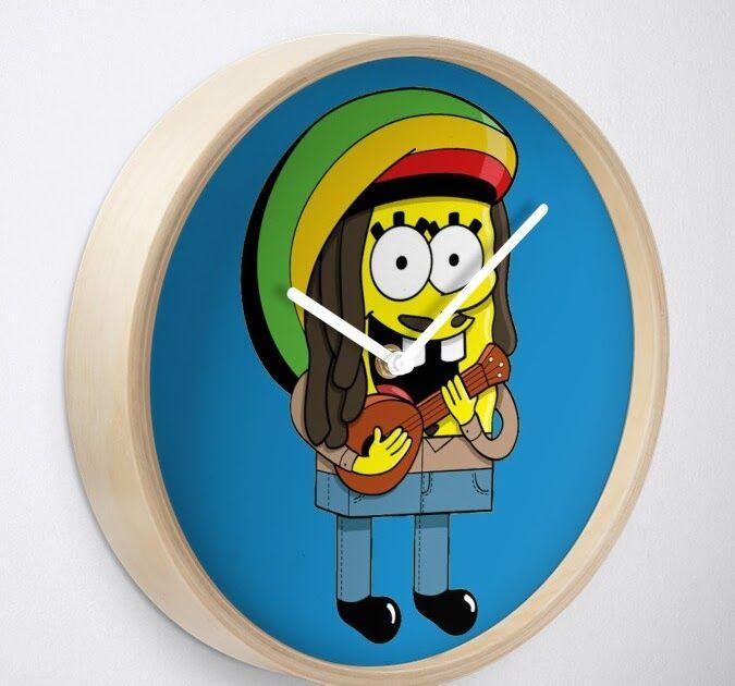 Rasta Spongebob Rasta Spongebob Clock Download Bob Transparent Background Png Cliparts Free Download Down Spongebob Faces Homer Simpson Funny Spongebob