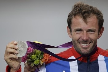 Men's Sailing RS-X:  Team GB's 2012 43rd Olympic medal was a Silver won by: Nick Dempsey on Tuesday 7th August 2012 at the Weymouth & Portland National Sailing Academy Dorset.