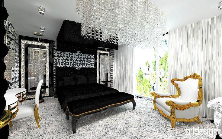 luksusowa sypialnia w rezydencji