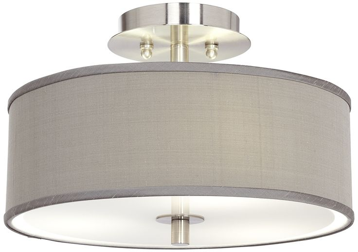 Flush mount light fixture for the bedroom love the grey for Flush mount bedroom lighting