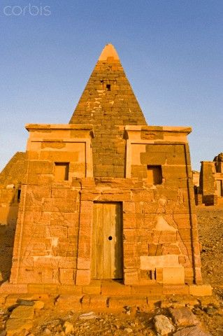 Nubian Desert, Sudan, Nahr an Nil province. Meroe Necropolis listed as World Heritage by UNESCO, has more than 200 pyramids, the Meroitic civilization, Napata era starting from 270 BC, Roman, Greek and Egyptian influences.