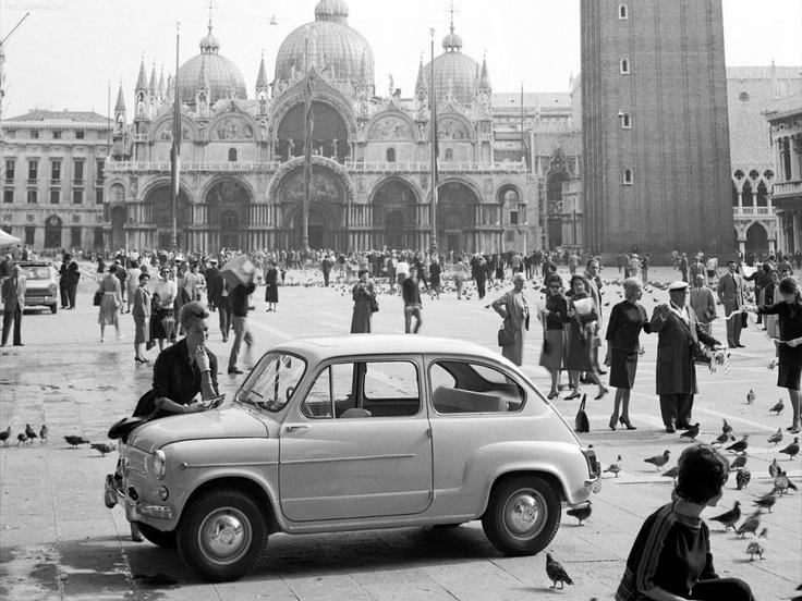 Venice , 1961,Fiat 600
