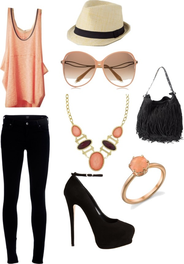 .: Shoes, Hats, Black Skinny, Outfit Idea, Summer Outfit, Clothing, Spring Fashion Trends, Heels, Spring Outfit
