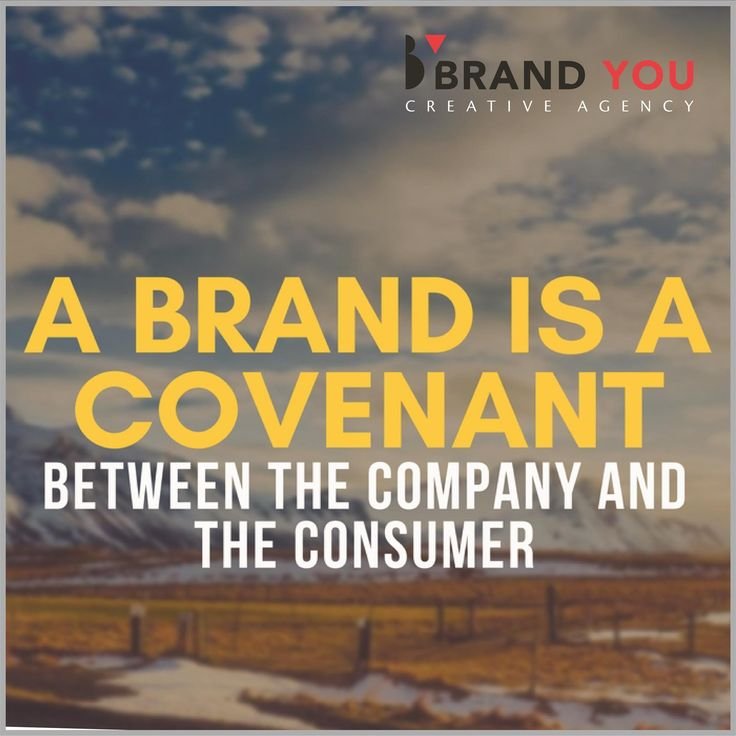 Your brand is a promise of consistency, good value , reliability, etc.