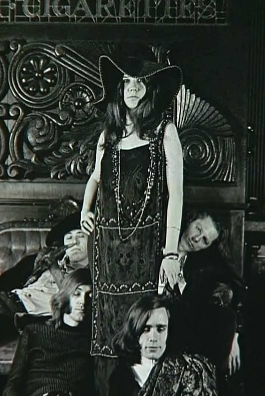 Janis Joplin: Created the hippie look--long necklaces, beads, floppy hats and vintage dresses