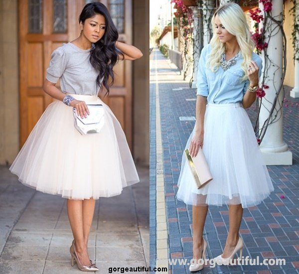 cute adult tulle skirts and tshirts | Tulle Skirt Style Modern Look