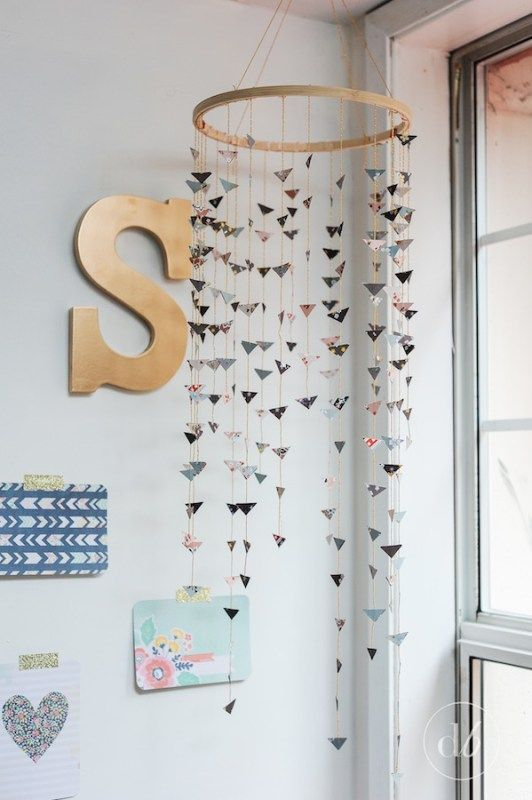 Dwell Beautiful shows you how to make a pretty modern mobile - the perfect piece of DIY crafty decor for a baby's nursery, craft room, and more!
