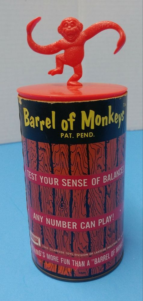 Awesome vintage 1965 Lakeside Toys Barrel of Monkeys. | Toys & Hobbies, Vintage & Antique Toys, Other Vintage & Antique Toys | eBay!
