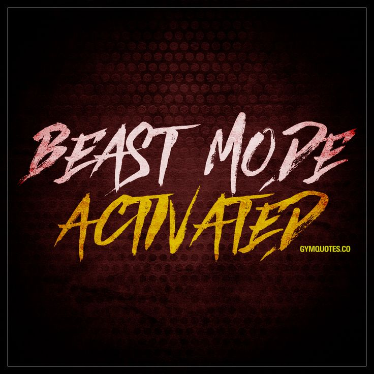 """Beast Mode Activated."" - Gotta love going into beast mode when you are training! - #gym #quotes"