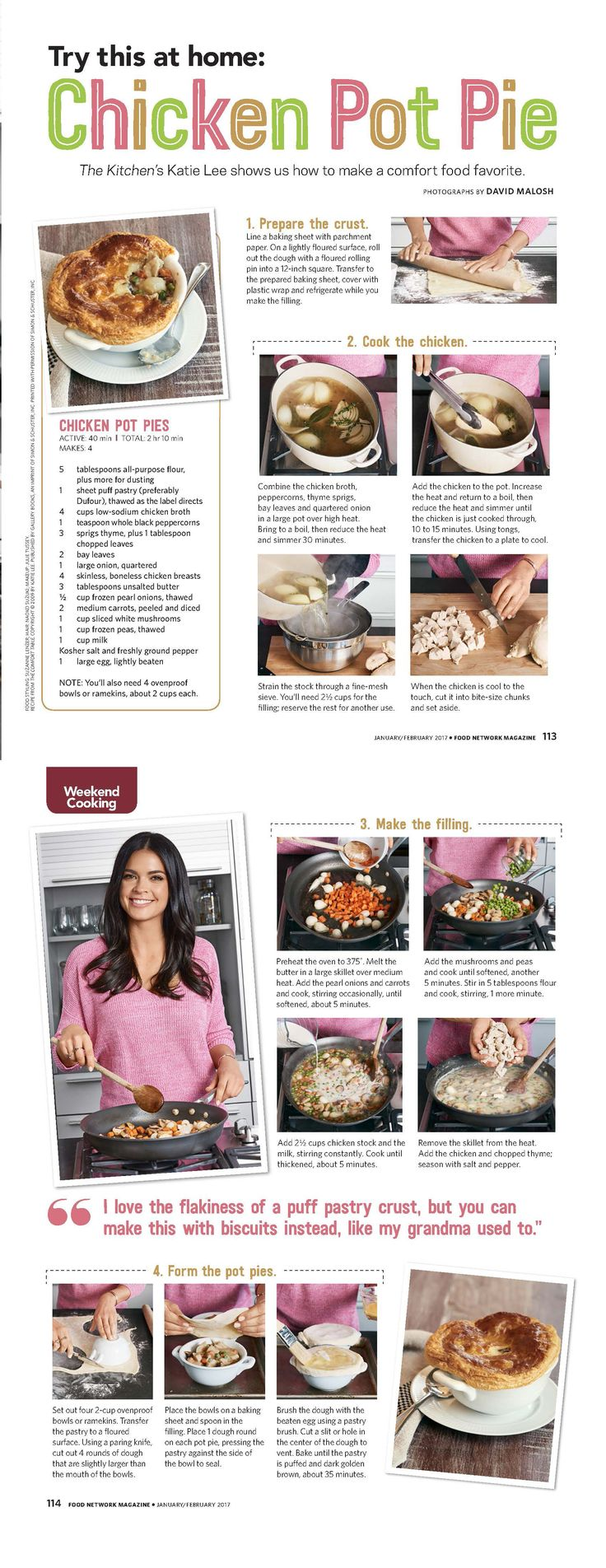 The Kitchen's Katie Lee offers a step-by-step tutorial on making her version of Chicken Pot Pie!