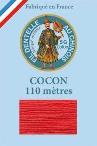 Farbiges Klöppelgarn Cocon Calais Nr. 6532 weihnachtsrot