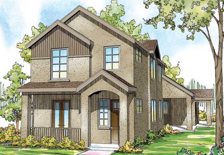 10 best townhome plans images on pinterest contemporary for Townhome layouts