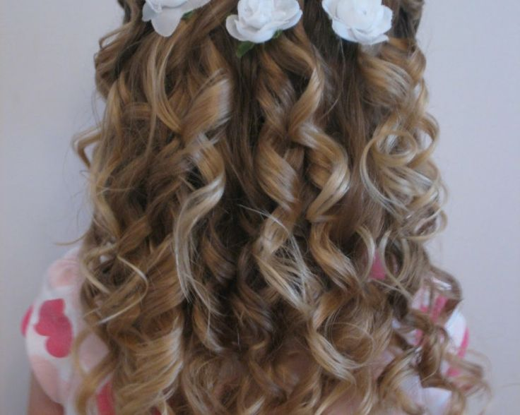 haircuts curly hair pictures images of hairstyles for flowergirl with hair 3391