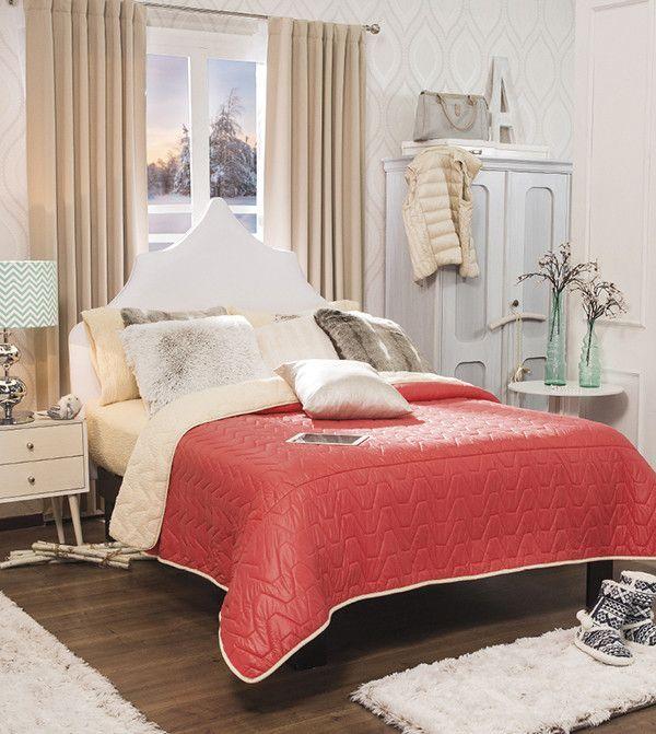 53876 Cobertor Basico Boreal Mat/Ind Coral Vianney #decoracioncuartodeniñas