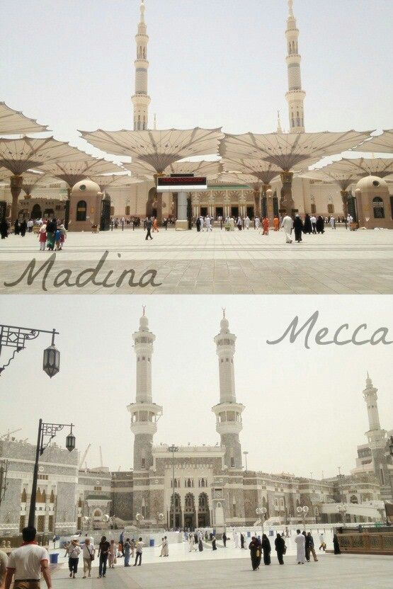 My two favourite places in the world ♥♥ in sha Allah I visit them again very soon - Ameen