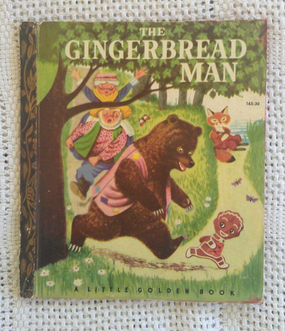 The Gingerbread Man. A Little Golden Book  by avintagesparrowsnest, $30.00