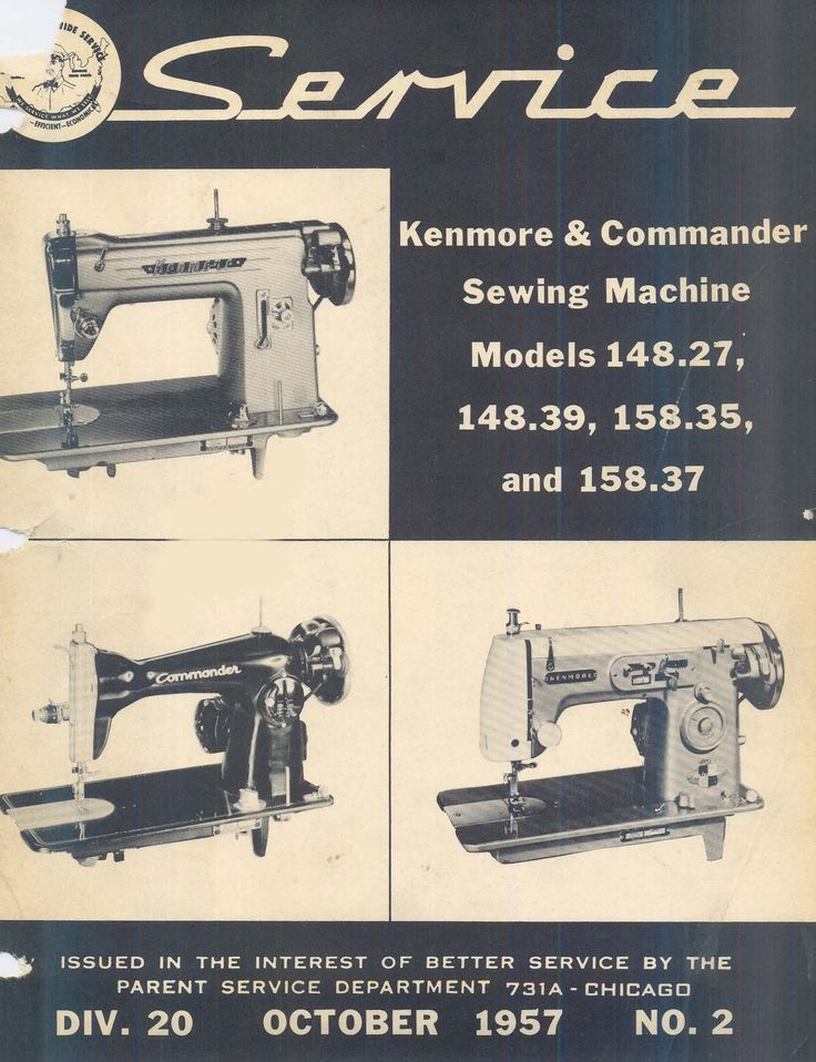 vintage kenmore sewing machine manual