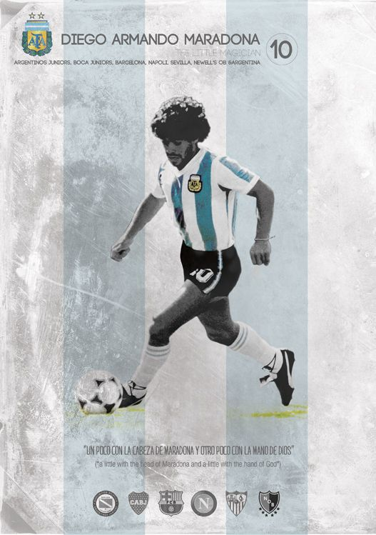 Diego Armando Maradona - one of football's legend