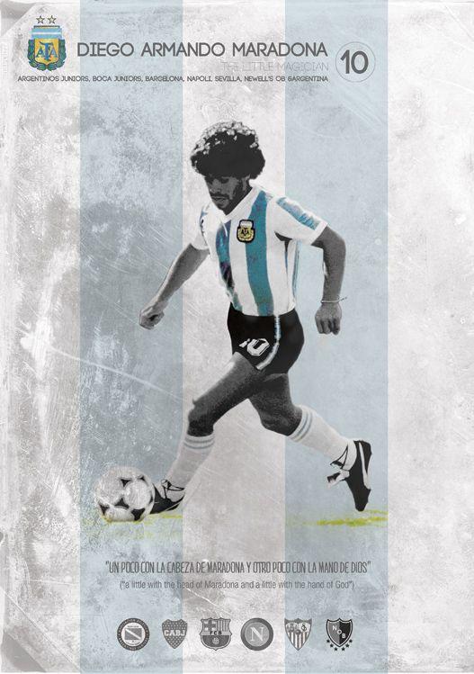 Diego Armando Maradona - one of football's legend