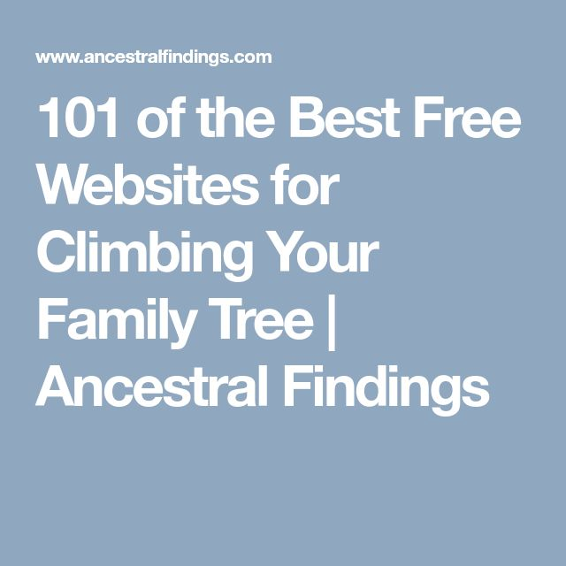 101 of the Best Free Websites for Climbing Your Family Tree | Ancestral Findings