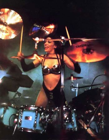 Oh Sheila...she can play drums and rock a metallic bra better than you ever will.