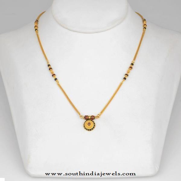 Simple Gold Mangalsutra Designs, Light Weight Gold Mangalsutra Designs, 22 Carat Gold Mangalsutra Designs.