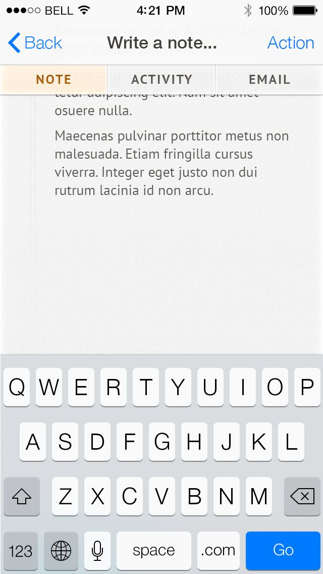 Nutshell iOS 7 design.