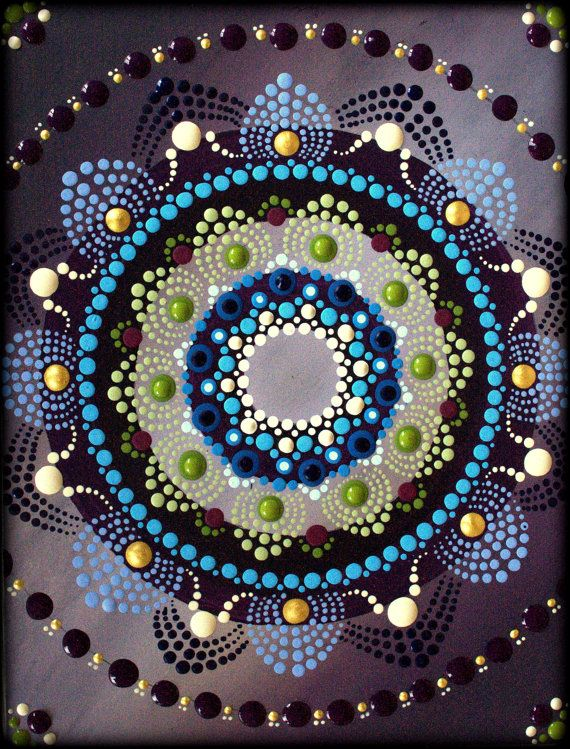 Lotus Blossom Mandala Painting by Kirsty by ArtbyKirstyRussell