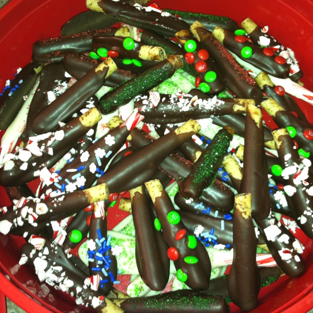 ... chocolate covered candy canes sprinkles snowflakes chocolates forwards
