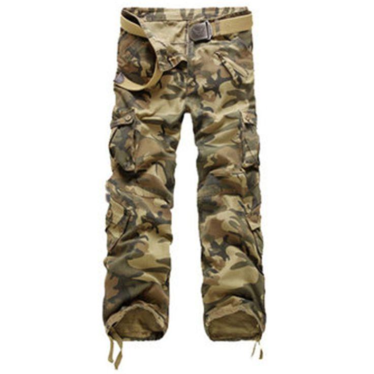 2016 Multi Poches Mode Hommes Pantalon Casual Camouflage Pantalon Cargo Urban Tactique Pantalon Homme Pantalon Vert Armée; Pantalon Casual dans   de   sur AliExpress.com | Alibaba Group