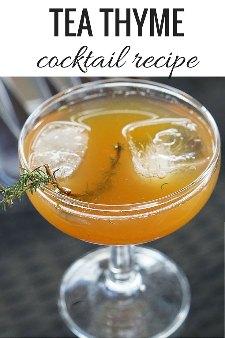 A DELICIOUS and refreshing simple cocktail recipe. This Tea Thyme Cocktail recipe combines tea infused vodka with local honey and wild thyme for the best drink ever! Get the recipe >> http://spanishsabores.com/2015/09/26/tea-thyme-cocktail-recipe/