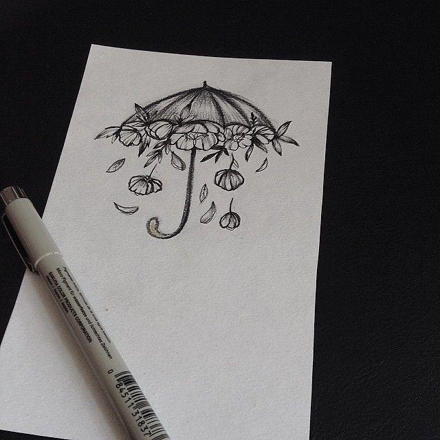#VSCOcam#зонт#цветытату #цветыэскиз #питертату #спбтату…