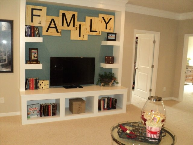 Like this idea of building wall unit on the tv wall