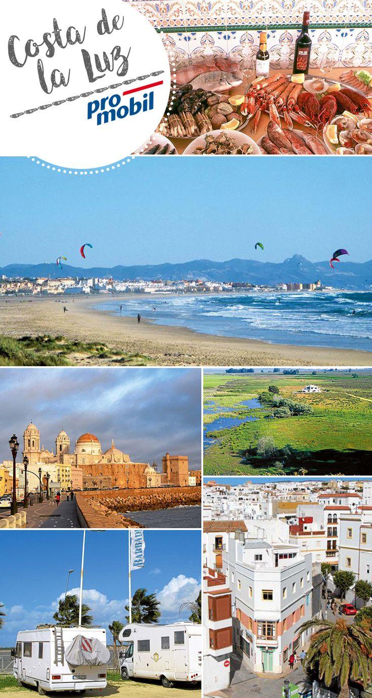 #Wohnmobil-Tour an die #Costa de la Luz Fünf gute Gründe für Spaniens äußersten Süden  Küste des Lichts werden #Andalusiens #Atlantik-Gestade genannt – die Costa de la Luz reicht von der #Surfer-Hochburg #Tarifa bis zur portugiesischen Grenze. Rund ums Jahr gibt's hier viel #Wind, aber auch Sonne, weite #Strände und mehr – genügend Gründe für eine Tour in #Spaniens äußersten #Süden.  #Camping #Reisen