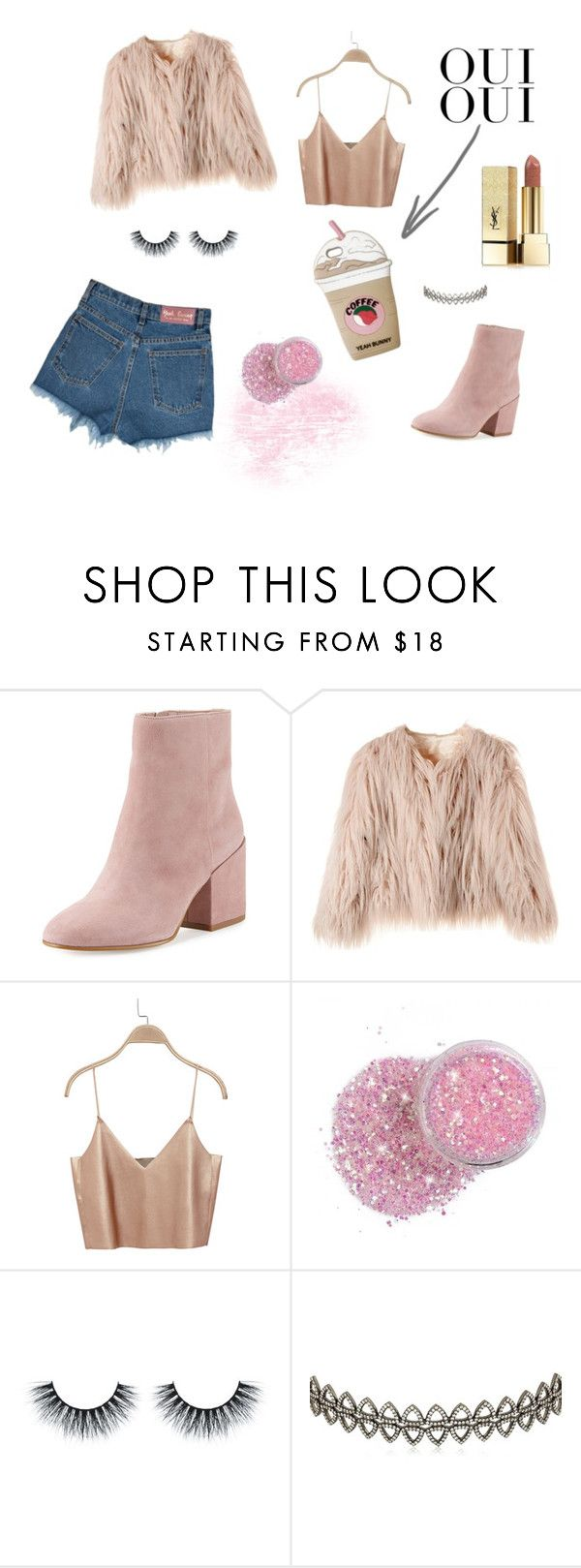"""YB pink"" by ellesdi on Polyvore featuring moda, Oui, Sam Edelman, Assya London i Yves Saint Laurent"