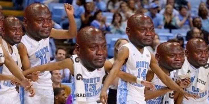 Bildresultat für schreiende Jordanien-Meme des Collegebasketballs   – Social Media Profile Photo Ideas