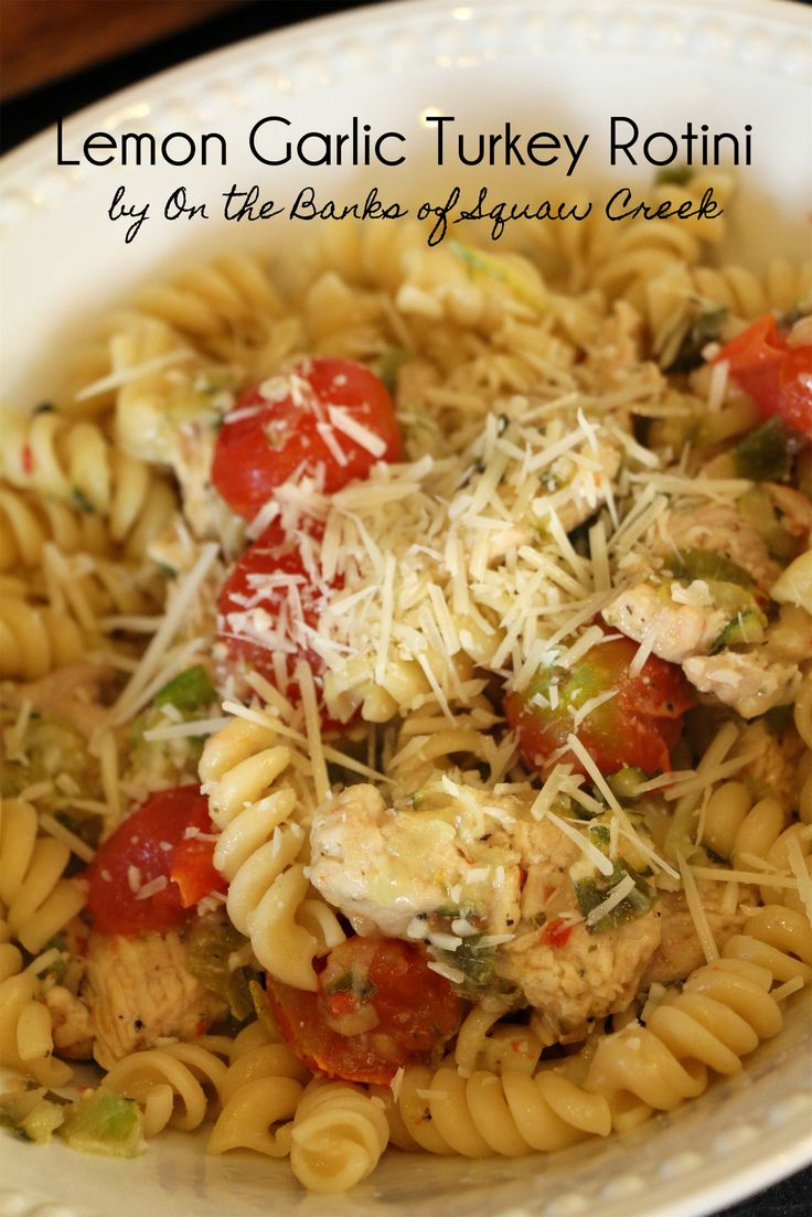 Lemon Garlic Turkey Rotini With Zucchini - Iowa Turkey Federation