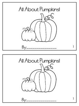 All About Pumpkins Book {freebie}