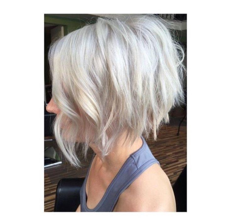 Platinum razor cut bob by Jayne Matthews | Yelp
