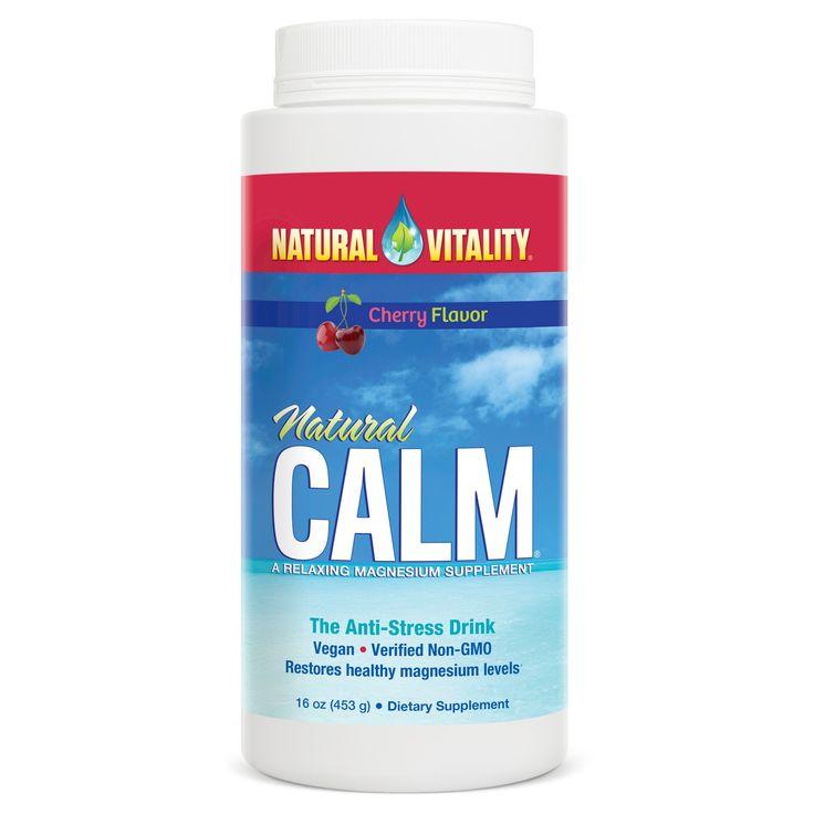 Natural Vitality Calm Anti-Stress Magnesium Drink Dietary Supplement Powder - Cherry - 16oz