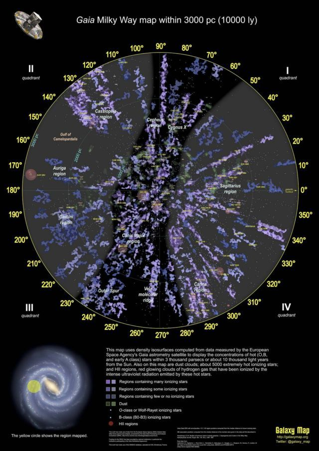 3d Map Of 400 000 Stars Located Within 10 000 Light Years From Us