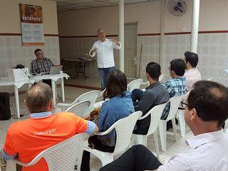 Agliberto Chagas apresentando o Partido NOVO em Pindamonhangaba-SP.