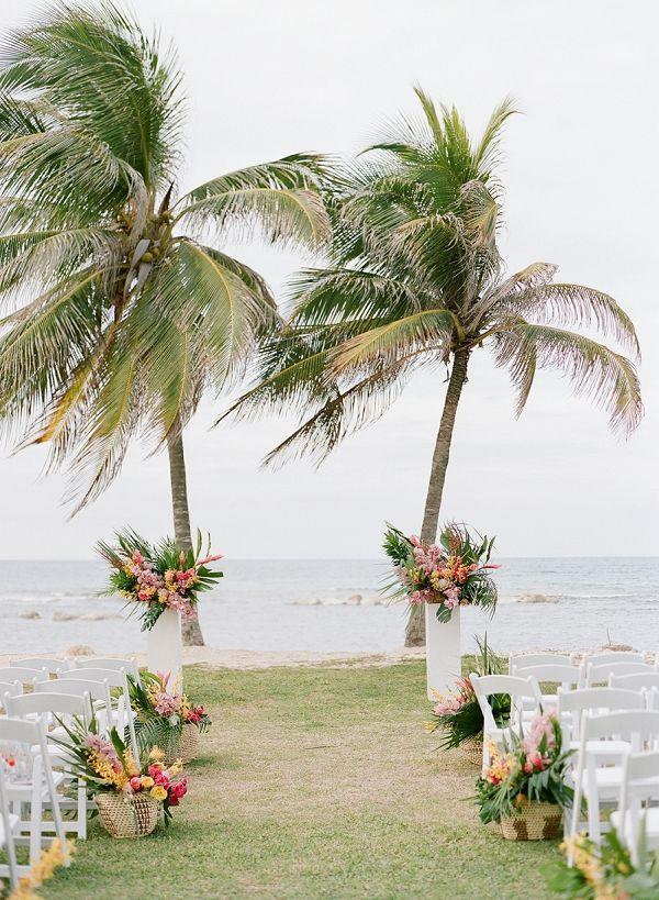 Tropical Wedding Ceremony Ideas | An Elegant Tropical Wedding In Jamaica By Fine Art Photographer Sylvie Gil Photography