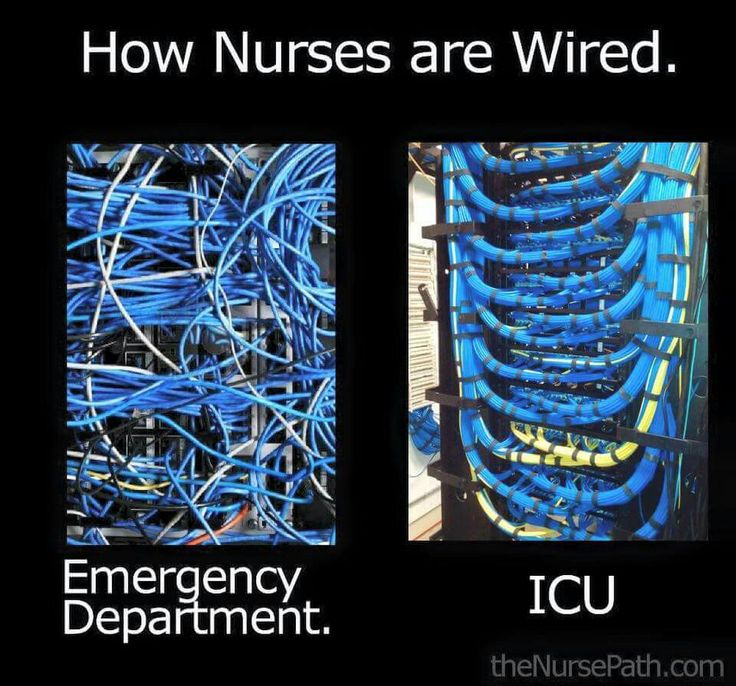 ER nurses work best this way.