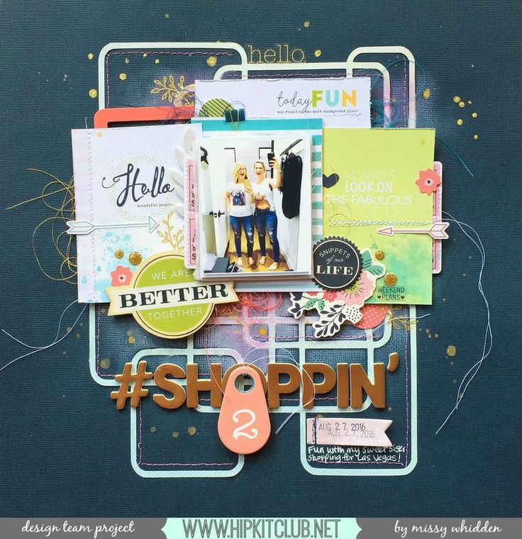 Hip Kit Club DT Project - 2016 October Hip Kits; We R Memory Keepers Honey I'm Home, Dear Lizzy Saturday, Pebbles, Simple Stories Posh, Shimmerz Paints, exclusive Project Life cards by Kim Watson; cut file by Zinia Amoiridou