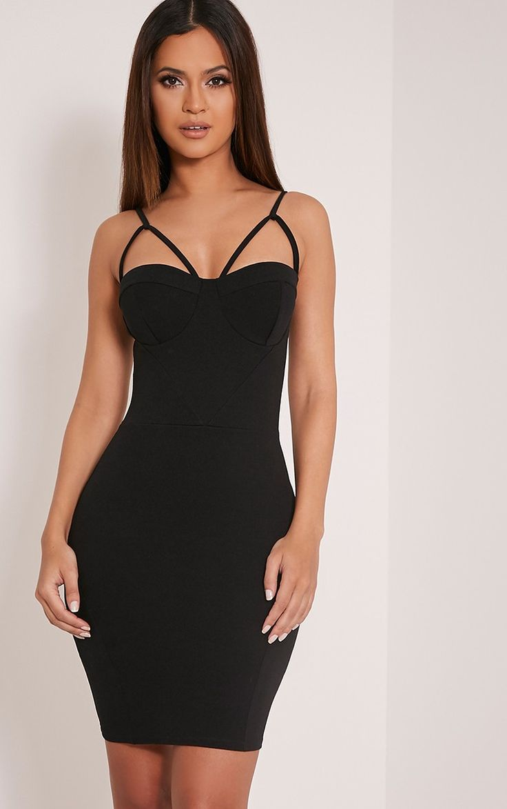 Buy motel coco backless bodycon dress in hot pink at motel rocks - Black Crepe Panel Bodycon Dress Be The Centre Of Attention In This Ultra Sexy Bodycon Dress In Prettylittlething Pinterest Bodycon Dress