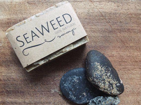 Seaweed Soap Natural Soap Handmade Reviving by naomipurebeauty